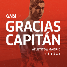 Homenaje a Gabi. Gracias capitán.. A Design, Events, Graphic Design, and Poster Design project by Alejandro Zarcero Clavería - 12.19.2018
