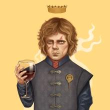 Tyrion Lannister . Un proyecto de Ilustración de retrato e Ilustración digital de Juan Ruiz - 16.03.2019