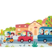Albert Pinilla - Puzzle XXL Ciudad - Goula. Un proyecto de Diseño de carteles e Ilustración de Albert Pinilla Ilustrador - 20.03.2019