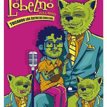 Mi Proyecto del curso: Carteles de rock ilustrados. A Illustration und Digitale Illustration project by Leonel Sánchez Lezama - 26.03.2019