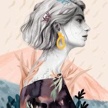 Bienvenida, primavera.. Un proyecto de Ilustración, Dibujo a lápiz, Dibujo, Ilustración digital y Dibujo de Retrato de Beatriz Ramo (Naranjalidad) - 28.03.2019