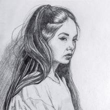 Mi Proyecto del curso: Retrato realista con lápiz de grafito. Un proyecto de Dibujo de Ivan Arias - 30.03.2019