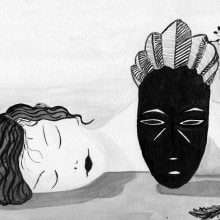 Las sombras del blanco y negro. A Illustration project by Loli Crespo - 03.31.2019