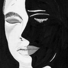 Las sombras en blanco y negro. A Illustration project by Loli Crespo - 03.31.2019
