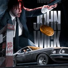 JOHN WICK AMP REGULAR VERSION. Un proyecto de Ilustración de Juan Saniose - 01.04.2019