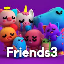 Friends 3. A 3-D, Design von Figuren, Animation von Figuren, 3-D-Animation und Design von 3-D-Figuren project by Tadeo Soriano - 02.04.2019