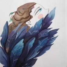 Los 3 cuervos. Un proyecto de Ilustración, Diseño editorial e Ilustración infantil de cindy monroy - 18.04.2019