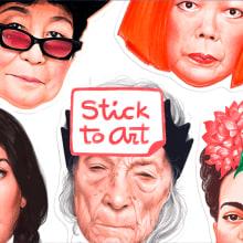 Stick to Art. Um projeto de Design e Ilustração de Vero Navarro - 01.03.2017