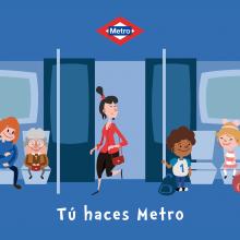 """Campaña publicitaria Metro de Madrid: """"Tú haces Metro"""". Un proyecto de Diseño, Diseño de personajes, Ilustración vectorial y Dibujo de Miguel Camacho Gordaliza - 02.05.2019"""