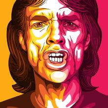 Mick Jagger - Retrato vectorial. Un proyecto de Bellas Artes, Dibujo y Dibujo de Retrato de Miguel Camacho Gordaliza - 02.05.2019