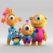 Nivis: Amigos de otro mundo - Disney Latinoamérica. Um projeto de 3D, Rigging, Animação de personagens e Animação 3D de Pablo Emmanuel De Leo - 01.04.2019