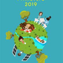 Cartel Fiestas de primavera 2019 - Madrid. Un proyecto de Diseño, Ilustración, Ilustración vectorial, Dibujo y Diseño de carteles de Miguel Camacho Gordaliza - 04.05.2019