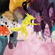 Una extraña seta en el jardín. A Illustration, Character Design, Editorial Design, Drawing, Digital illustration, Artistic drawing, and Children's Illustration project by Adolfo Serra - 05.06.2019