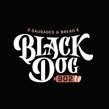 Logotipo Black Dog 902. Un proyecto de Diseño, Br, ing e Identidad y Lettering de Ximena Jiménez - 07.05.2019