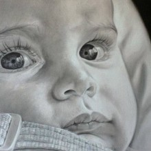 Mi Proyecto del curso: Retrato realista con lápiz de grafito. A Pencil drawing project by Eduardo Torres Nicolás - 05.15.2019