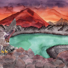 Lava landscapes. A Illustration project by Carla Rodera - 05.15.2019