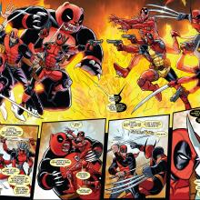 Deadpool Kills Deadpool. A Illustration, and Character Design project by Salva Espín - 05.16.2019