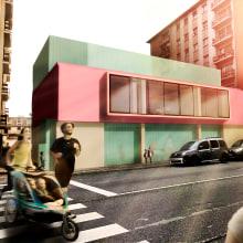 Escuela Infantil en Pola de Siero. Un proyecto de 3D, Arquitectura y Diseño de interiores de Alejandro Mazuelas Kamiruaga - 02.05.2019