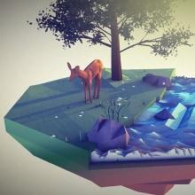 Ecosystem Low Poly - Cinema 4D   After effects. Un proyecto de 3D, Animación, Animación de personajes, Animación 3D y Modelado 3D de Emiliano Ortiz - 25.05.2019