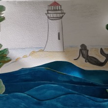 Mi Proyecto del curso: El proceso de ilustración del cuento La Sirena de Ray Bradbury. Un projet de Illustration jeunesse de Rosa Miriam Ponce Meza - 28.05.2019