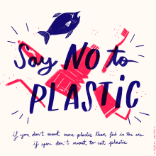 Say no to plastic. A Illustration project by Marina Montero - 06.03.2019