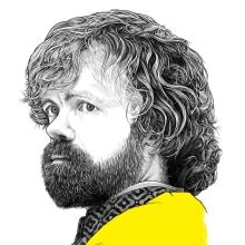 Tyrion. Un proyecto de Ilustración digital, Ilustración de retrato, Dibujo de Retrato, Dibujo realista y Dibujo artístico de Pako Martinez - 04.06.2019