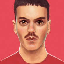 Alberto Miss Caffeina - Reina. Un proyecto de Diseño gráfico, Ilustración digital e Ilustración de retrato de Antonio Ufarte - 10.06.2019