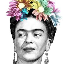 Frida Kahlo. Un proyecto de Ilustración digital, Ilustración de retrato, Dibujo de Retrato, Dibujo realista y Dibujo artístico de Pako Martinez - 12.06.2019