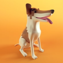 Perrito píxel. A 3-D, Design von Figuren, Spielzeugdesign, Animation von Figuren, 3-D-Animation, Kreativität, 3-D-Modellierung und Design von 3-D-Figuren project by Mar Paz - 14.06.2019