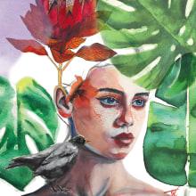 Mi Proyecto del curso: Retrato ilustrado en acuarela. Un progetto di Illustrazione di ritratto di Teissi Aranda - 16.06.2019