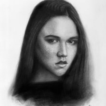 """""""Ayleen"""" Retrato realista. A Illustration, Pencil drawing, Portrait illustration, Portrait Drawing, and Realistic drawing project by Javier Ortiz - 06.17.2019"""