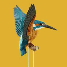 Kingfishers. Um projeto de 3D, Design de personagens, Artes plásticas, Escultura, Design de cenários, Papercraft e Design de personagens 3D de Diana Beltran Herrera - 01.07.2019