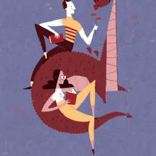 Poster Sant Jordi para la Generalitat de Catalunya. Un proyecto de Ilustración de Albert Pinilla Ilustrador - 09.07.2019