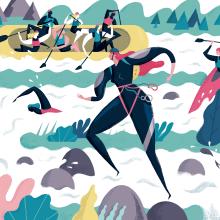 Illustration for the magazine Descobrir Catalunya. Un proyecto de Diseño editorial, Ilustración e Ilustración digital de Albert Pinilla Ilustrador - 09.07.2019