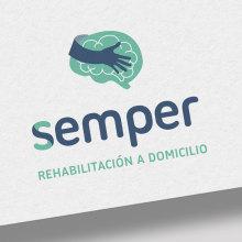 SEMPER: Branding, Editorial. Un proyecto de Publicidad, Dirección de arte, Br, ing e Identidad, Diseño editorial, Diseño gráfico y Diseño de logotipos de Bárbara Pérez Muñoz - 12.07.2019
