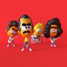 Queen. Um projeto de Motion Graphics, 3D, Direção de arte, Rigging, Animação 3D, Ilustração digital e Design de personagens 3D de Andreé Chujutally Mejía - 14.07.2019