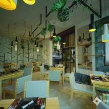 Mi Proyecto del curso: Restaurante y Tienda Vegana. Um projeto de Design, Arquitetura e Design de interiores de Cecilia Milagros León García - 16.07.2019