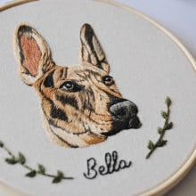 Retrato de Bella . Um projeto de Bordado de Valentina Castillo - 17.07.2019
