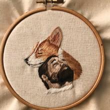 Si yo fuera un dog.... Um projeto de Bordado e Ilustração têxtil de Valentina Castillo - 17.07.2019