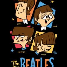 Here they are-The Fabulous BEATLES!. Un projet de Illustration vectorielle, Illustration numérique, Illustration de portrait et Illustration jeunesse de Ed Vill - 19.07.2019