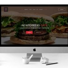 NEWYORKERS CAFE: Web. Un proyecto de Publicidad, Dirección de arte, Br, ing e Identidad, Diseño gráfico, Diseño Web y Desarrollo Web de Bárbara Pérez Muñoz - 20.07.2019