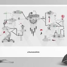 ATRAPASUEÑOS: Ilustración. Un proyecto de Ilustración, Publicidad, Dirección de arte, Br, ing e Identidad, Diseño gráfico e Ilustración vectorial de Bárbara Pérez Muñoz - 08.11.2017