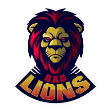 BAD LIONS. Mascot logo para esports. A Br, ing, Identit, Logo Design, and Graphic Design project by Alejandro Zarcero Clavería - 07.22.2019