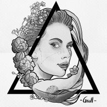 Mi Proyecto del curso: Diseño e ilustración digital de tatuajes con Procreate. Un proyecto de Ilustración digital y Diseño de tatuajes de Miguel Angel Padilla Jiménez - 25.07.2019