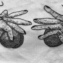 Mi Proyecto del curso: Introducción al bordado en blackwork. Un proyecto de Bordado de Laura Bello - 27.07.2019