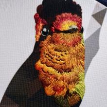 COLIBRÍ RUBÍ TOPACIO. Un proyecto de Bordado e Ilustración textil de Lina Montoya - 15.07.2019
