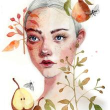Mi Proyecto del curso: Retrato ilustrado en acuarela. Un proyecto de Ilustración, Pintura a la acuarela e Ilustración de retrato de Vrigit Smith - 05.08.2019
