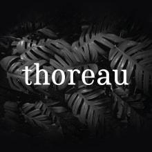 Thoreau type. A Design, Grafikdesign, T, pografie, Schrift und Kalligrafie project by Carlos Asencio - 26.06.2016