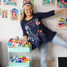 Bordados en sweater para la marca Declarative Label de Seattle, USA.. Un projet de Broderie de Katy Biele - 01.01.2019