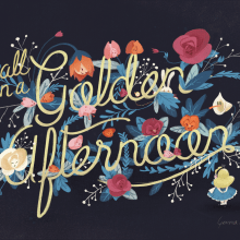 Alice and the Flowers of Wonderland. Un projet de Illustration, Lettering, Esquisse , Illustration numérique et Illustration jeunesse de Gemma Román - 31.07.2014